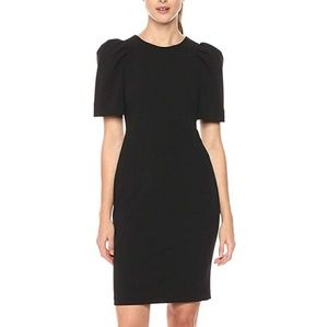 Nwt, Calvin Klein black puff shoulder dress.